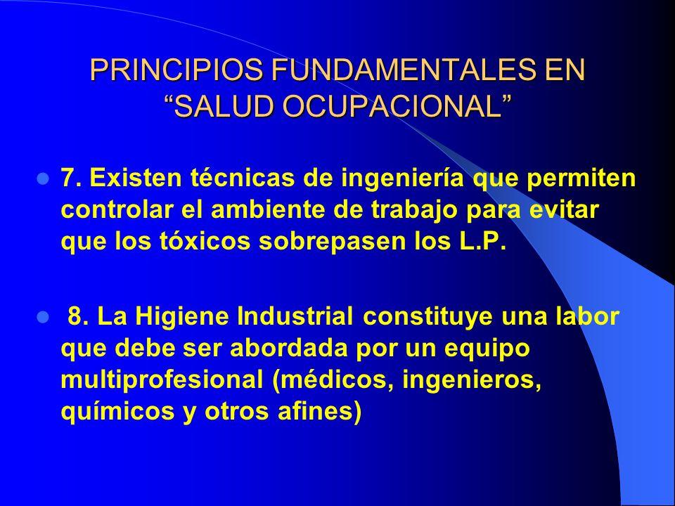 PRINCIPIOS FUNDAMENTALES EN SALUD OCUPACIONAL 7.