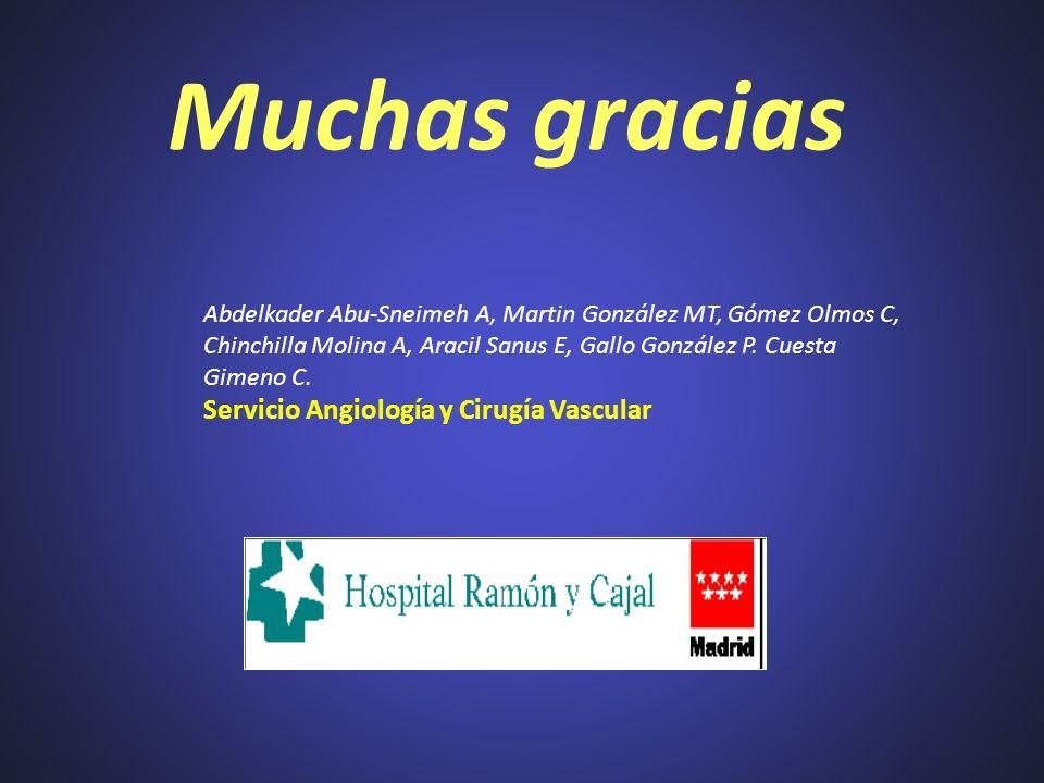 Muchas gracias Abdelkader Abu-Sneimeh A, Martin González MT, Gómez Olmos C, Chinchilla Molina A, Aracil Sanus E, Gallo González P. Cuesta Gimeno C. Se