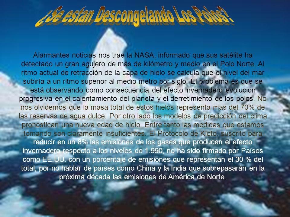 Sergio Cabrera; Sergio Gil; Pablo Godina; Richi Ros. CALENTAMIENTO GLOBAL Alarmantes noticias nos trae la NASA, informado que sus satélite ha detectad