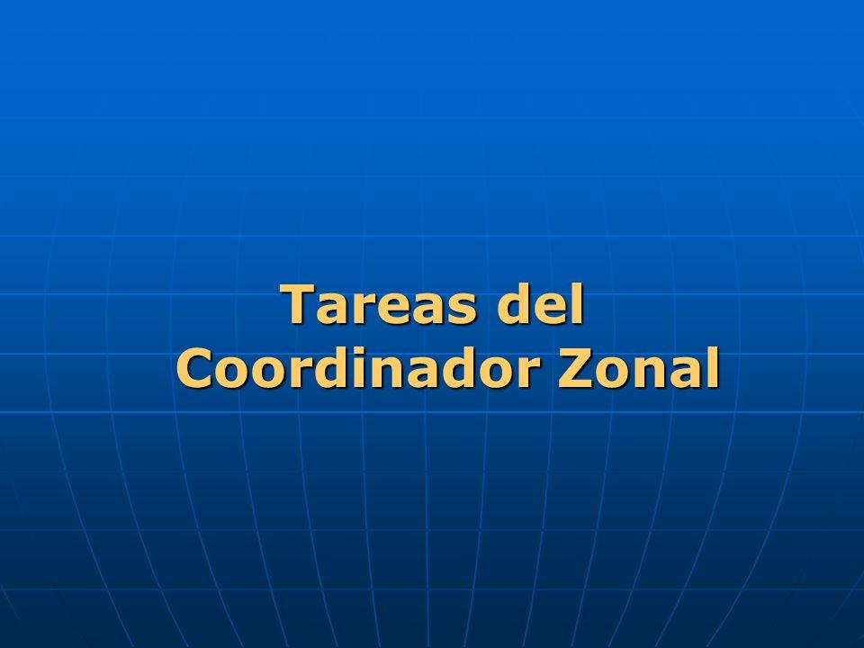 Tareas del Coordinador Zonal