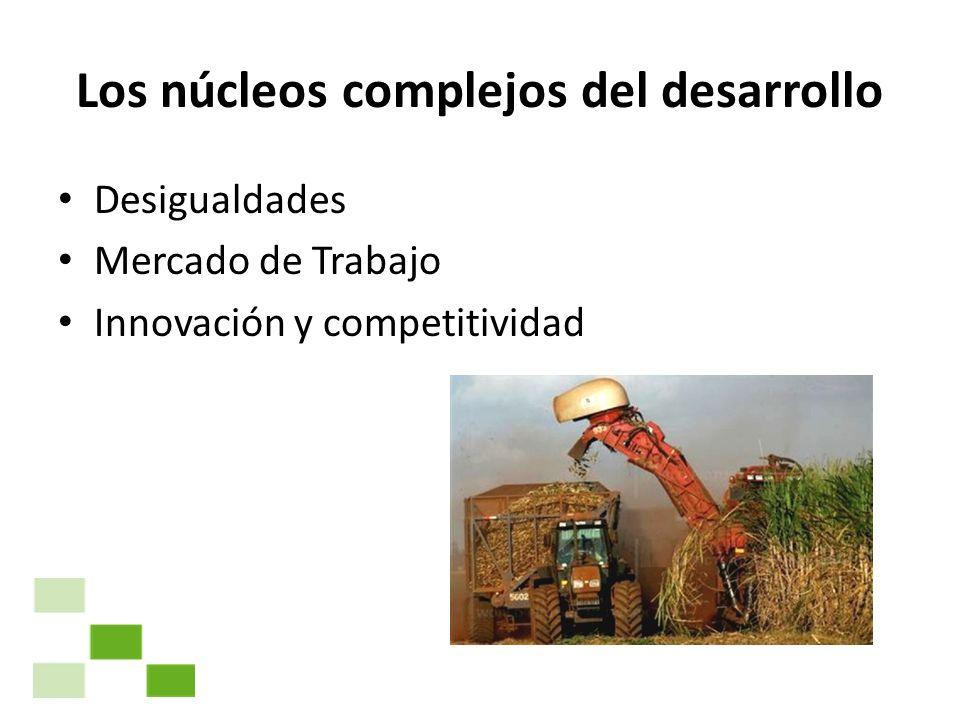 Los núcleos complejos del desarrollo Desigualdades Mercado de Trabajo Innovación y competitividad