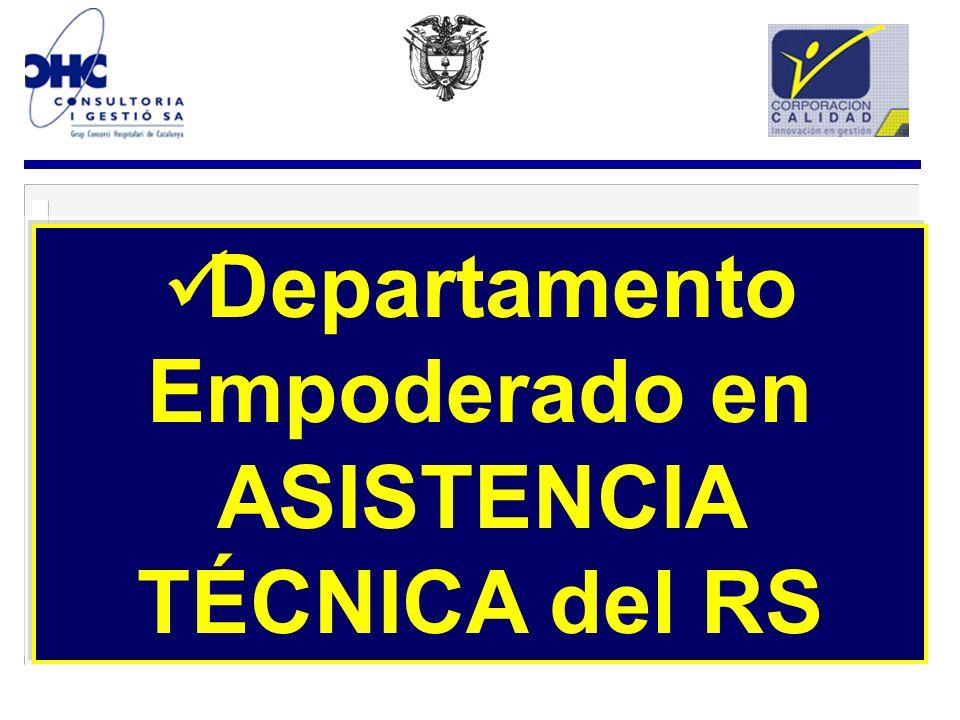Departamento Empoderado en ASISTENCIA TÉCNICA del RS