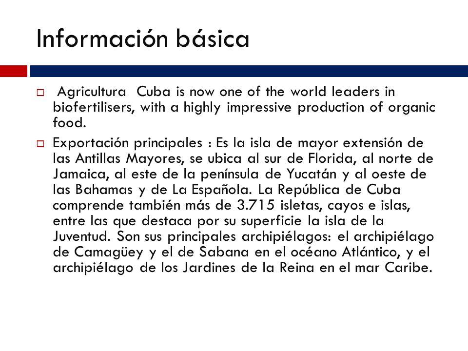 información básica Moneda : peso Cubano (CUP)=100 centavos Economía: Cuba has a dual economy, with two distinct systems operating side by side. The so