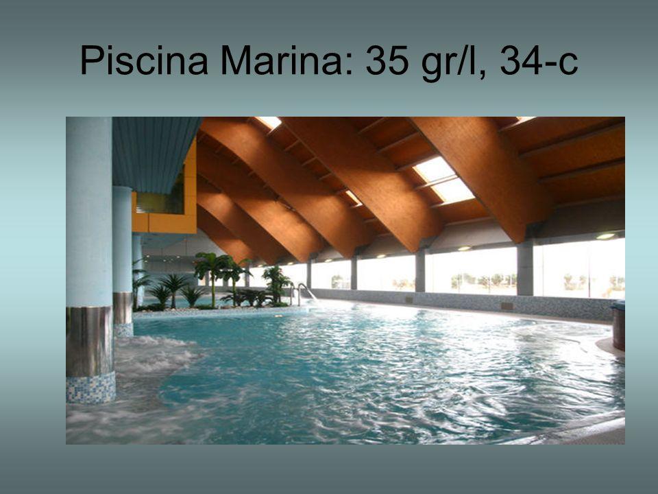 Piscina Marina: 35 gr/l, 34-c