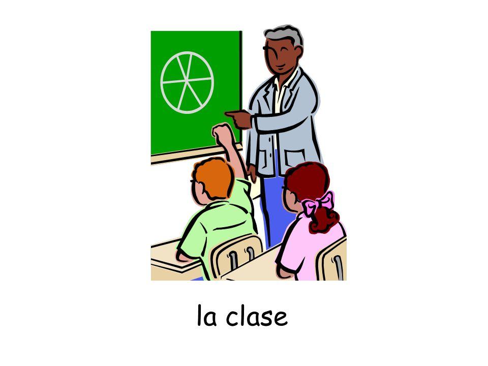 el pupitre ¿Cuántos pupitres hay en la clase?