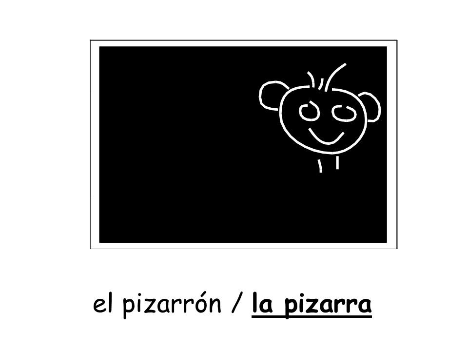 el pizarrón / la pizarra