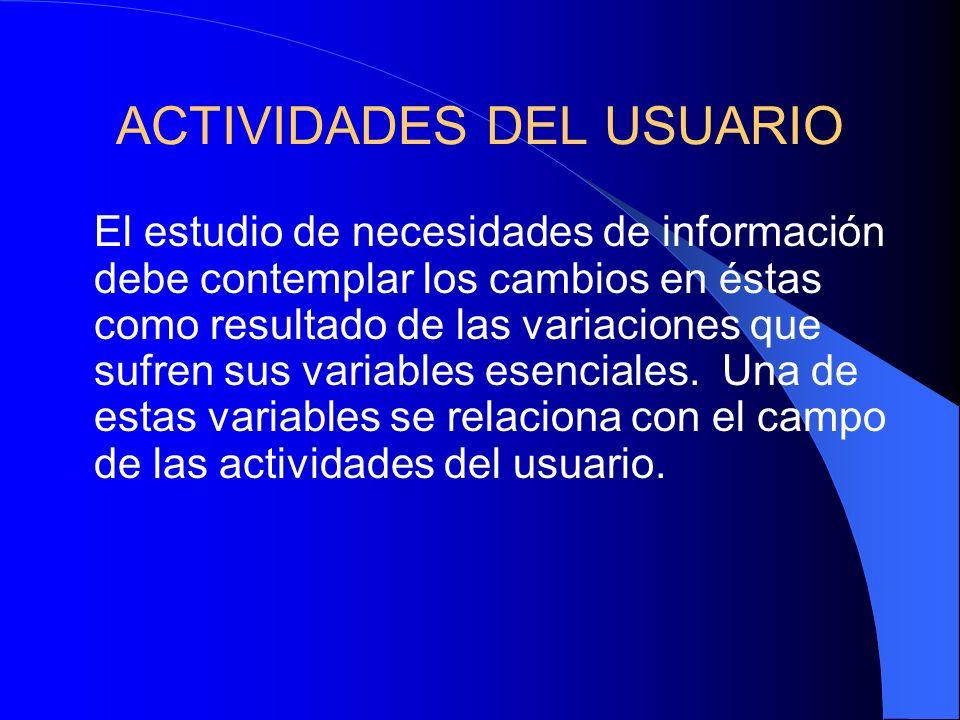 Algunos más específicos Tipo de institución. Información académica. Características de la información. Recursos de información. Servicios y productos