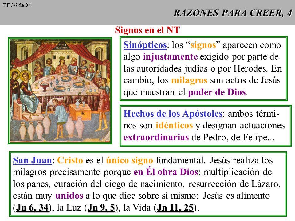RAZONES PARA CREER, 4 Signos en el NT Sinópticos: los signos aparecen como algo injustamente exigido por parte de las autoridades judías o por Herodes