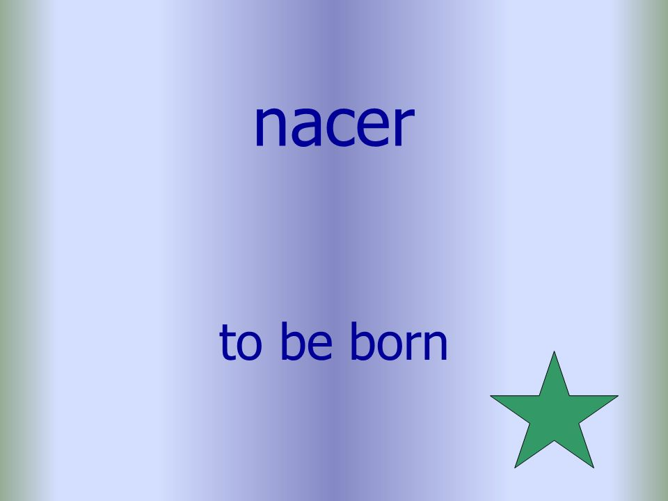 nacer to be born