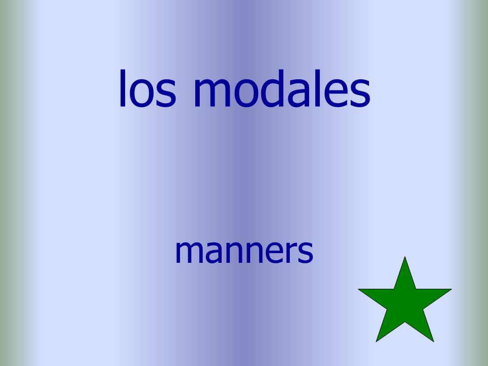 los modales manners