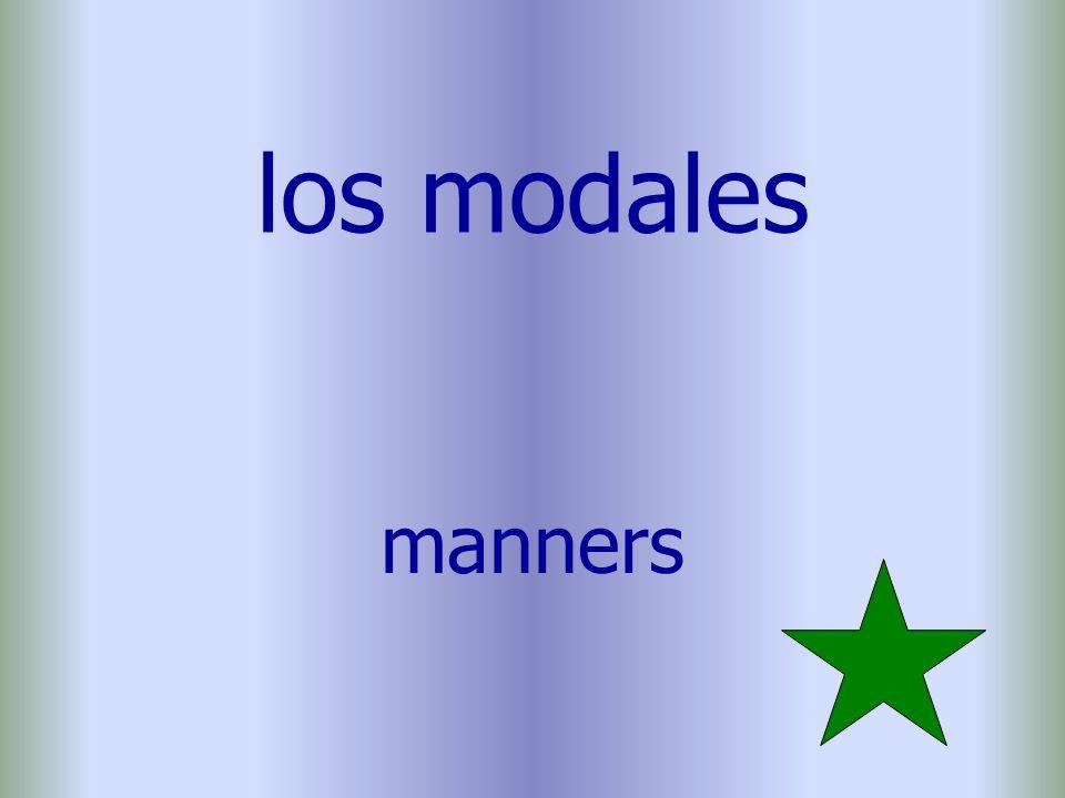 los modales manners