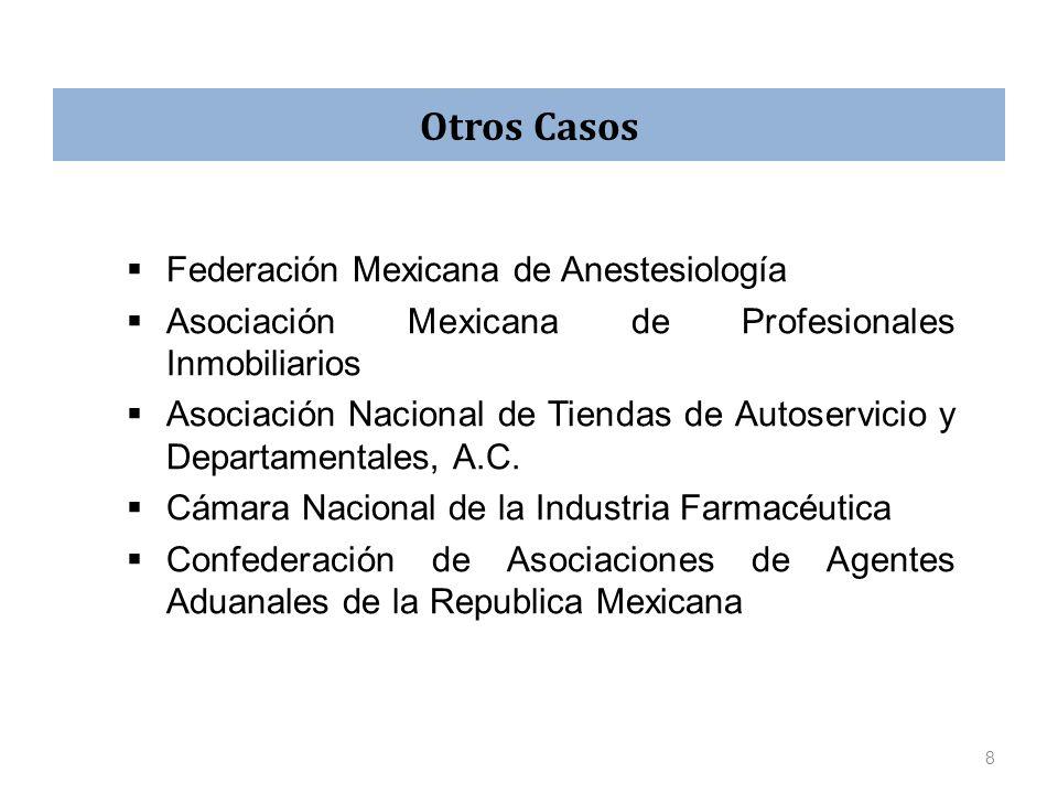 Federación Mexicana de Anestesiología Asociación Mexicana de Profesionales Inmobiliarios Asociación Nacional de Tiendas de Autoservicio y Departamenta