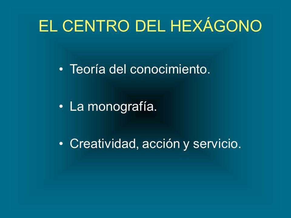 EL CENTRO DEL HEXÁGONO Teoría del conocimiento. La monografía. Creatividad, acción y servicio.