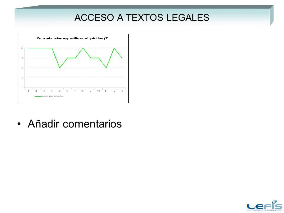 ACCESO A TEXTOS LEGALES Añadir comentarios
