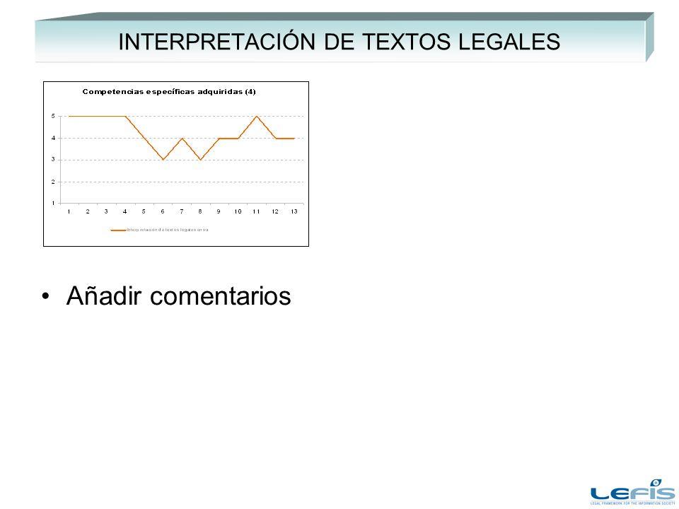 INTERPRETACIÓN DE TEXTOS LEGALES Añadir comentarios