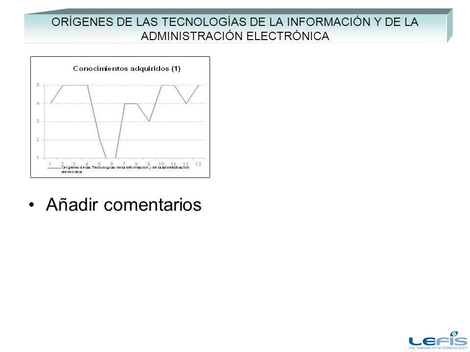 ORÍGENES DE LAS TECNOLOGÍAS DE LA INFORMACIÓN Y DE LA ADMINISTRACIÓN ELECTRÓNICA Añadir comentarios