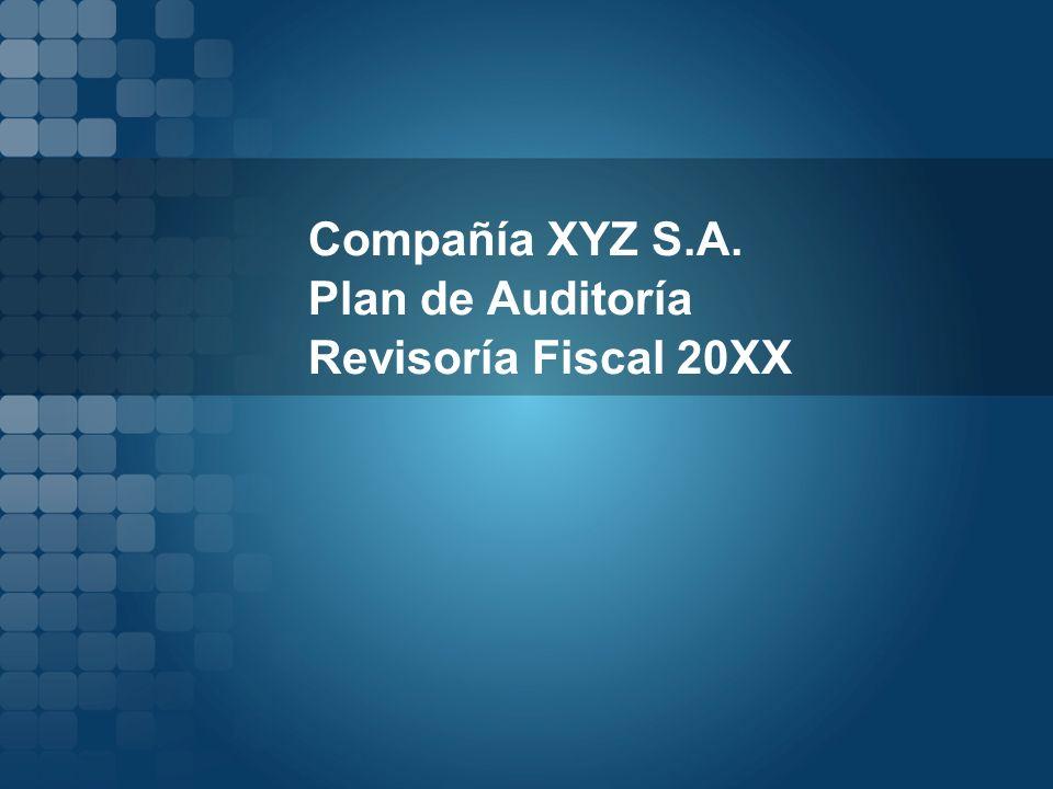 Compañía XYZ S.A. Plan de Auditoría Revisoría Fiscal 20XX