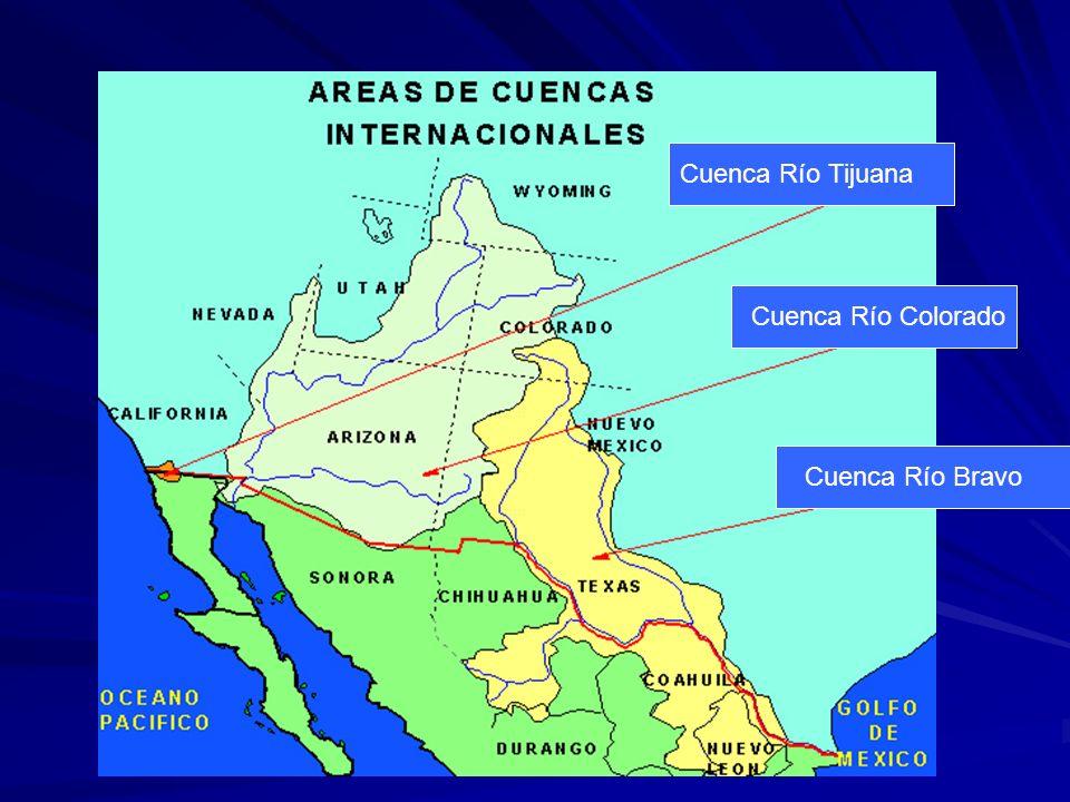 Cuenca Río Tijuana Cuenca Río Colorado Cuenca Río Bravo
