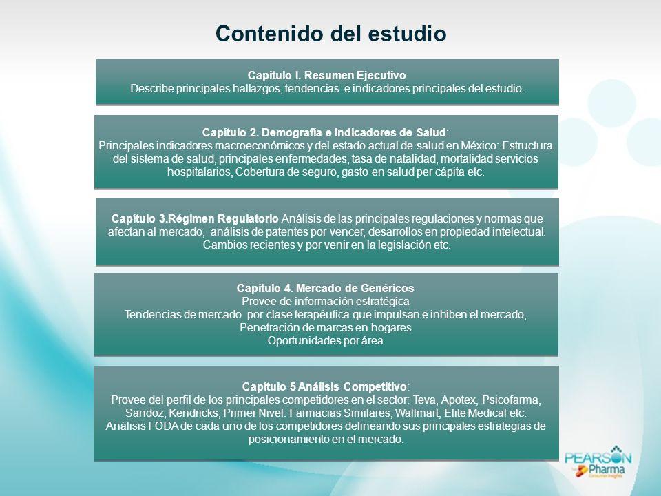 Capítulo I. Resumen Ejecutivo Describe principales hallazgos, tendencias e indicadores principales del estudio. Capítulo I. Resumen Ejecutivo Describe