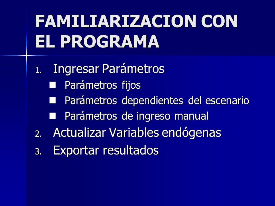 FAMILIARIZACION CON EL PROGRAMA 1.