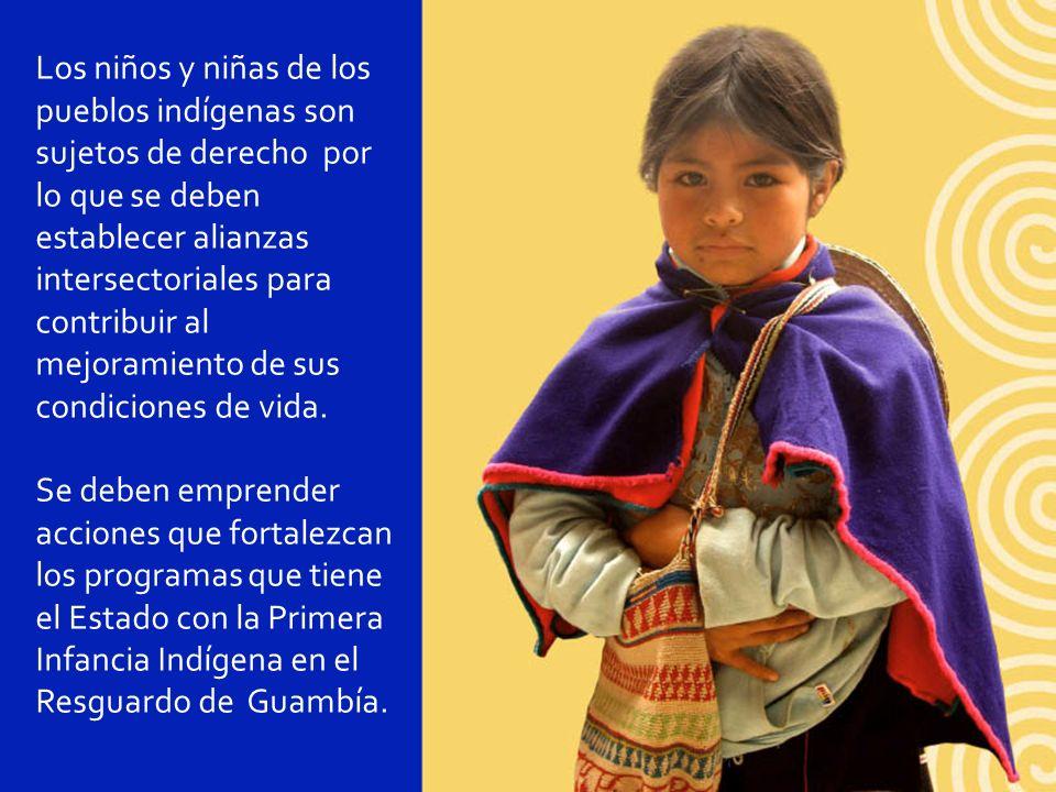 Los niños y niñas de los pueblos indígenas son sujetos de derecho por lo que se deben establecer alianzas intersectoriales para contribuir al mejorami