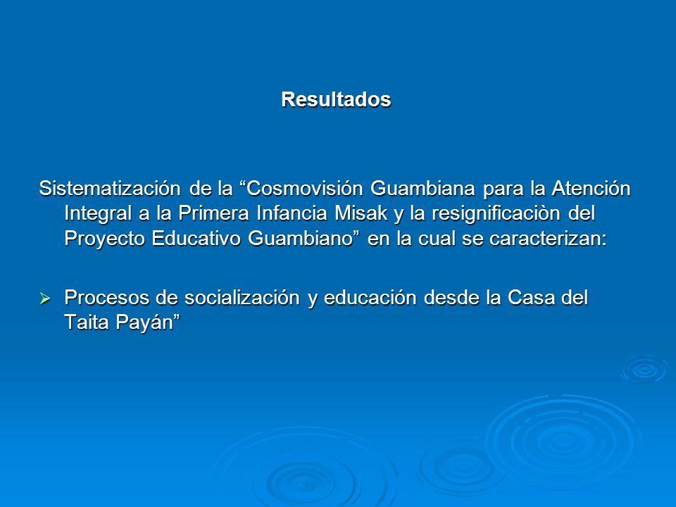 Resultados Sistematización de la Cosmovisión Guambiana para la Atención Integral a la Primera Infancia Misak y la resignificaciòn del Proyecto Educati