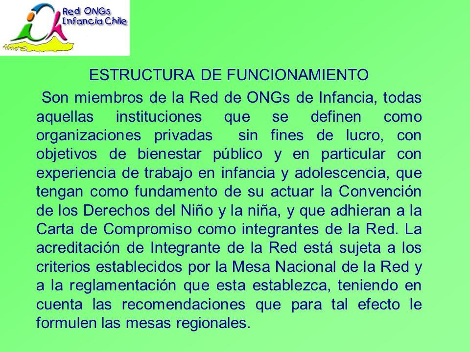 INSTANCIAS REPRESENTATIVAS DE FUNCIONAMIENTO a) La Asamblea Anual de ONGs de Infancia