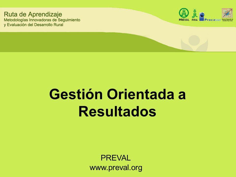Gestión Orientada a Resultados PREVAL www.preval.org