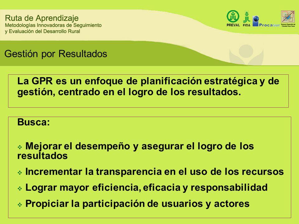 Busca: Mejorar el desempeño y asegurar el logro de los resultados Incrementar la transparencia en el uso de los recursos Lograr mayor eficiencia, efic