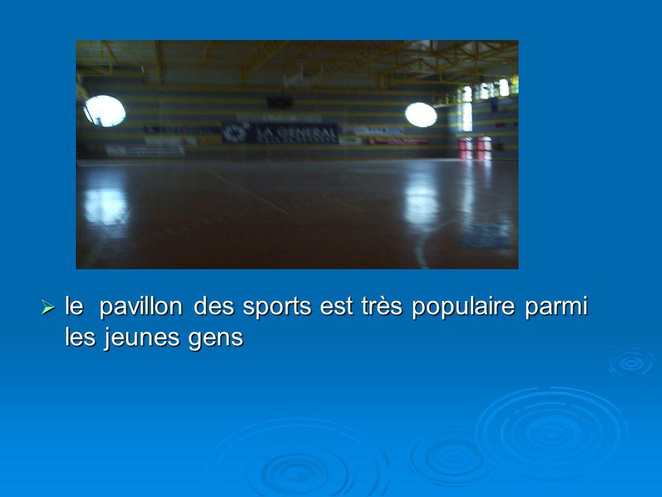 le pavillon des sports est très populaire parmi les jeunes gens le pavillon des sports est très populaire parmi les jeunes gens