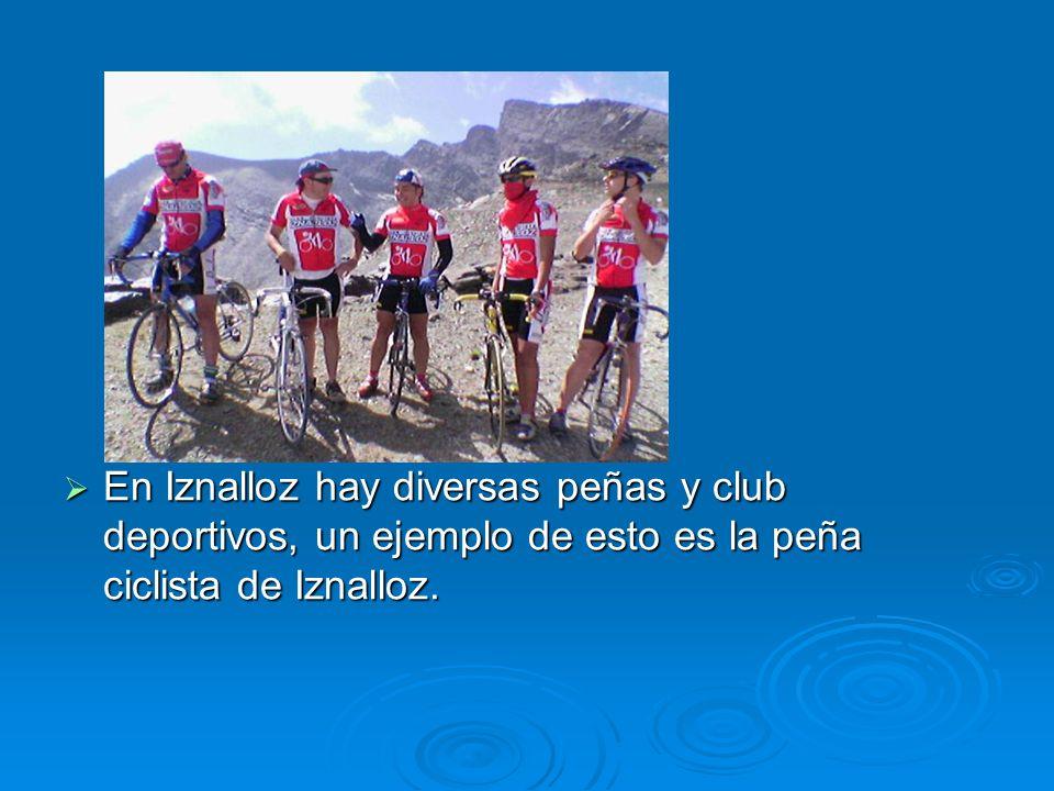 En Iznalloz hay diversas peñas y club deportivos, un ejemplo de esto es la peña ciclista de Iznalloz. En Iznalloz hay diversas peñas y club deportivos