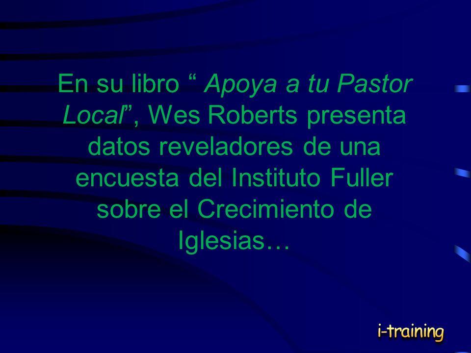 En su libro Apoya a tu Pastor Local, Wes Roberts presenta datos reveladores de una encuesta del Instituto Fuller sobre el Crecimiento de Iglesias…