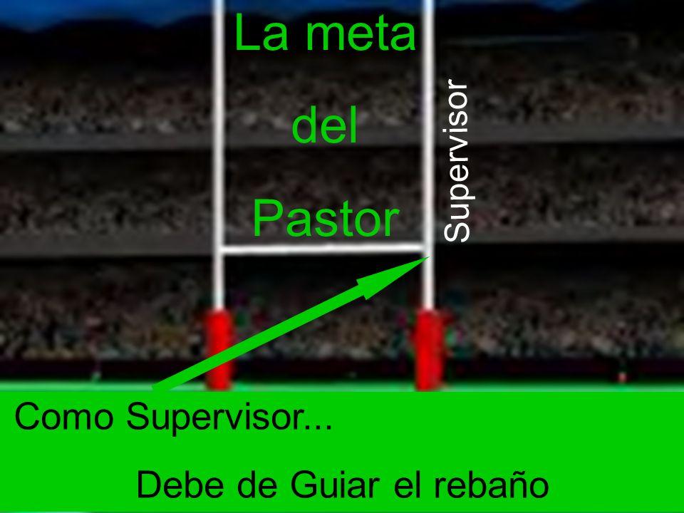 La meta del Pastor Como Supervisor... Debe de Guiar el rebaño Supervisor