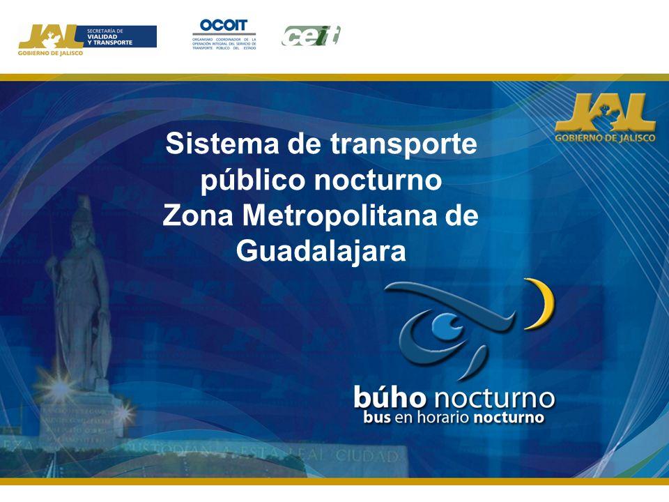 Sistema de transporte público nocturno Zona Metropolitana de Guadalajara
