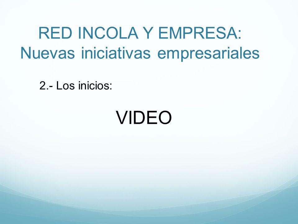 RED INCOLA Y EMPRESA: Nuevas iniciativas empresariales 2.- Los inicios: VIDEO
