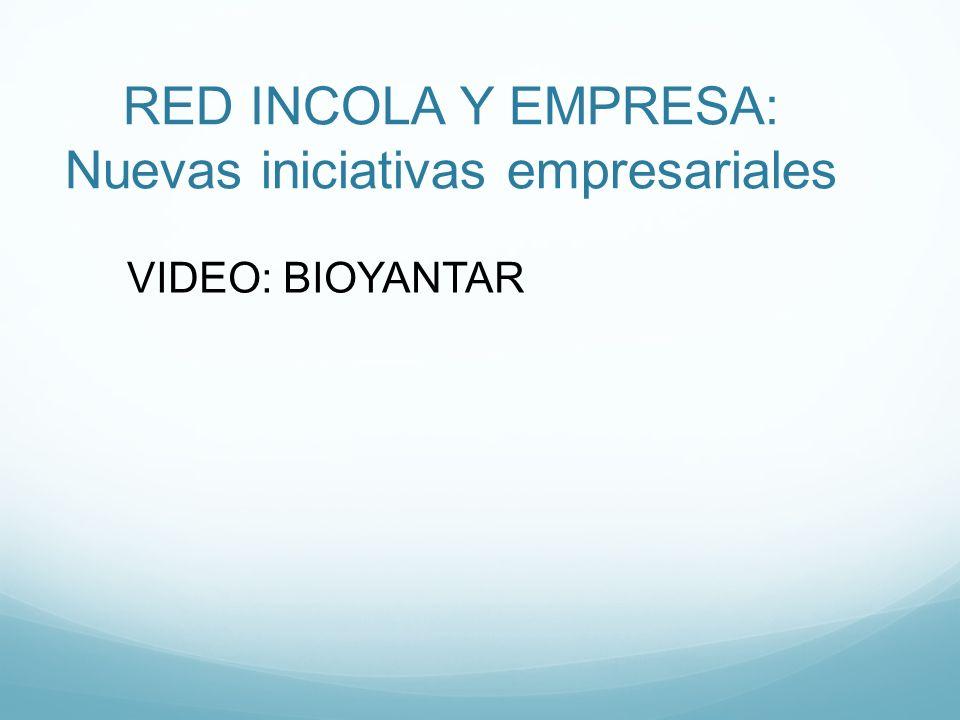 RED INCOLA Y EMPRESA: Nuevas iniciativas empresariales VIDEO: BIOYANTAR