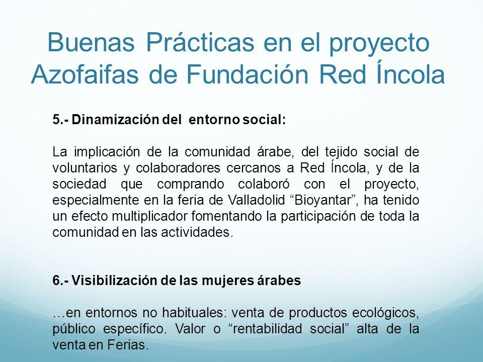 Buenas Prácticas en el proyecto Azofaifas de Fundación Red Íncola 5.- Dinamización del entorno social: La implicación de la comunidad árabe, del tejid