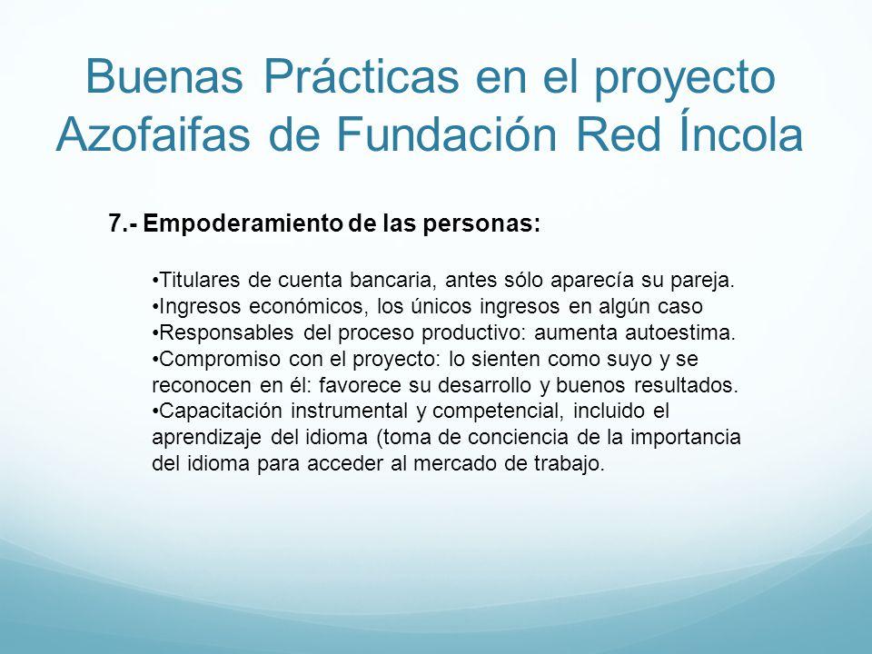 Buenas Prácticas en el proyecto Azofaifas de Fundación Red Íncola 7.- Empoderamiento de las personas: Titulares de cuenta bancaria, antes sólo aparecí