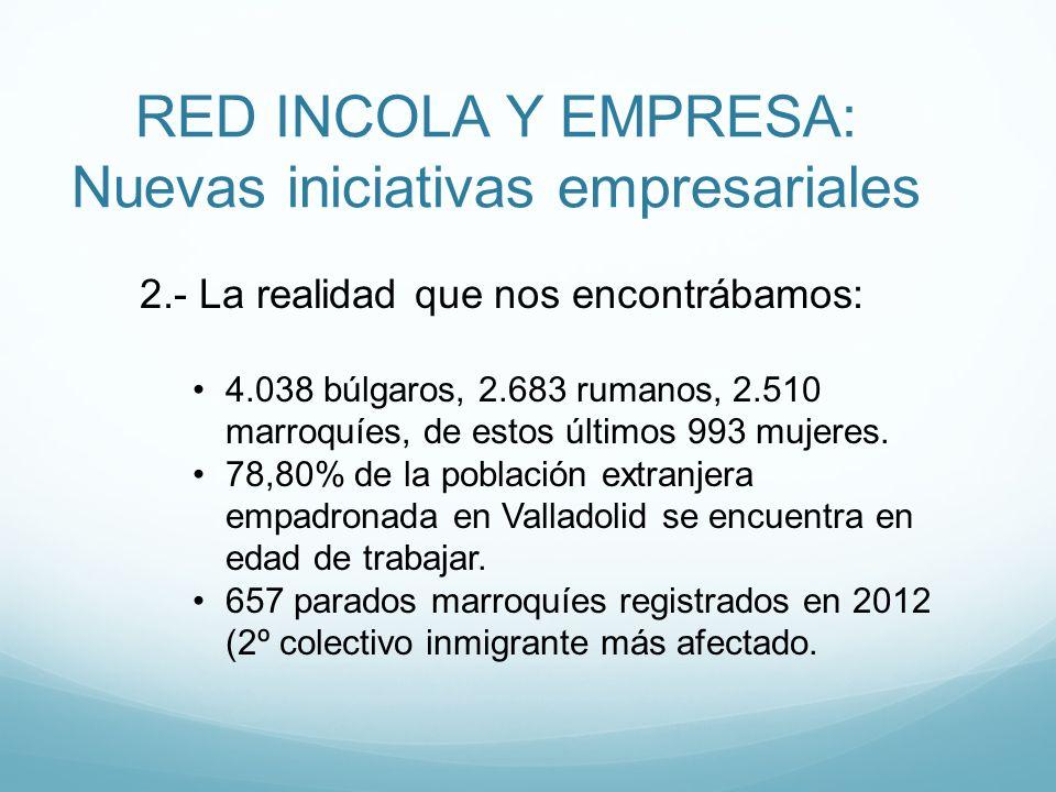 RED INCOLA Y EMPRESA: Nuevas iniciativas empresariales 2.- La realidad que nos encontrábamos: 4.038 búlgaros, 2.683 rumanos, 2.510 marroquíes, de esto