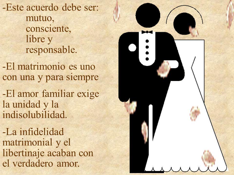 El divorcio Es un mal para todos: para la mujer, los hijos, el marido, la sociedad.