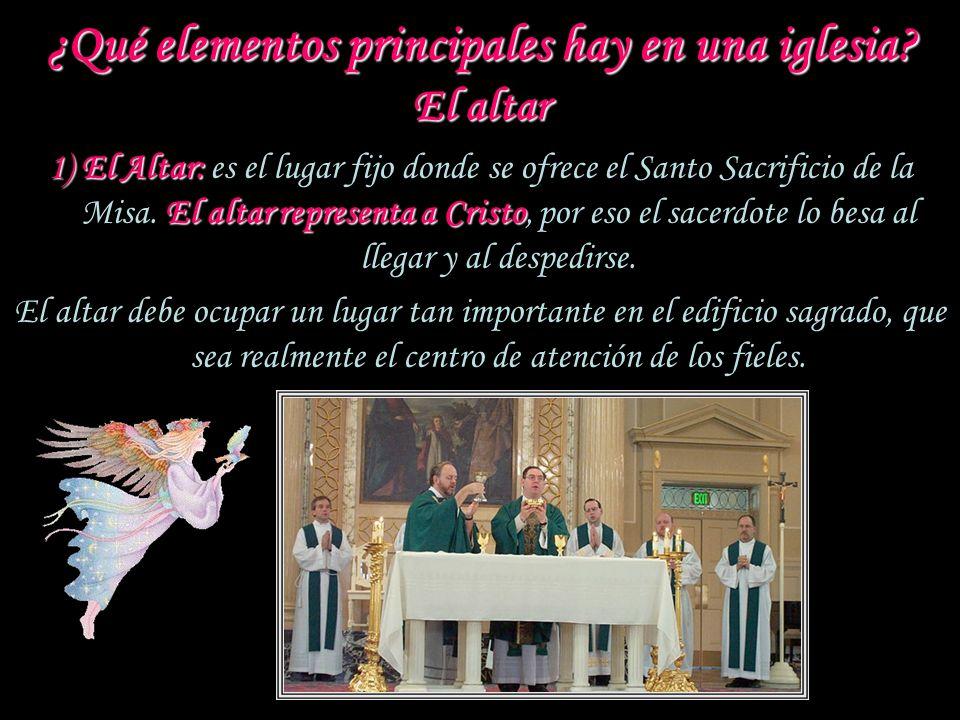El Presbiterio: El Presbiterio: e s el principal lugar sagrado donde tienen lugar la mayoría de las ceremonias litúrgicas. Es espacioso y suele estar