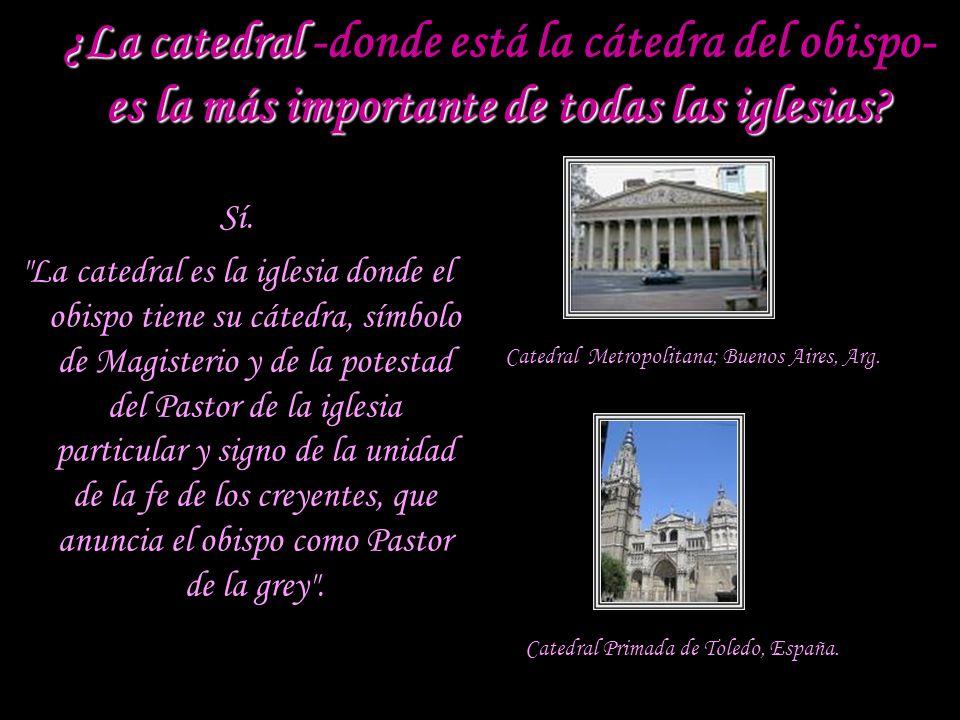 ¿Qué simboliza la cátedra o sede en la catedral? La cátedra o sede del obispo en la catedral es la silla eminente, el trono reservado al obispo cuando