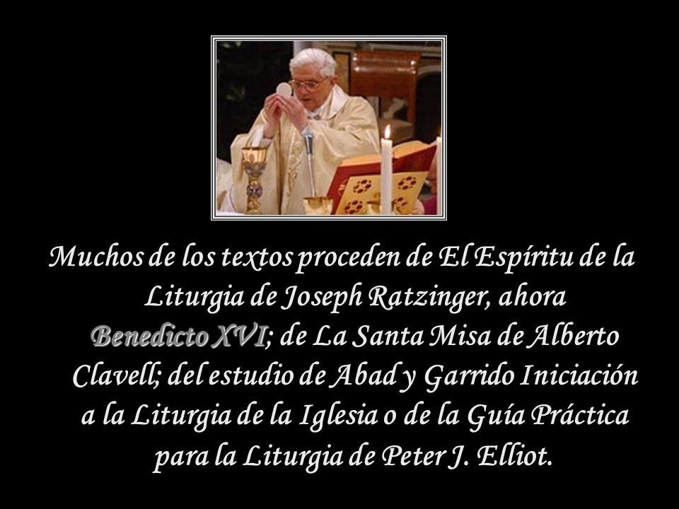 Santa Misa Magisterio Los catequistas y las personas interesadas en conocer con mayor profundidad la liturgia católica, encontrarán en esta compilació