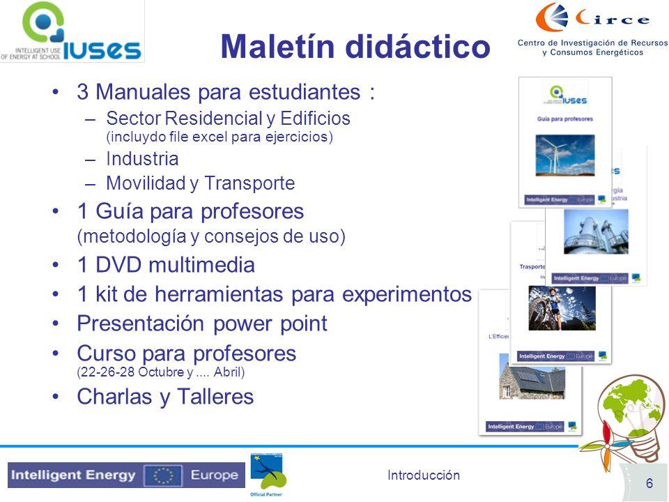 Introducción 7 Concurso de Eficiencia Energética Se lanzará entre los Centros para premiar las mejores prácticas energéticas Periodo de referencia: 15 Diciembre 2009 (fecha Pre-inscripción) 20 Mayo 2010 (Solicitud completa).