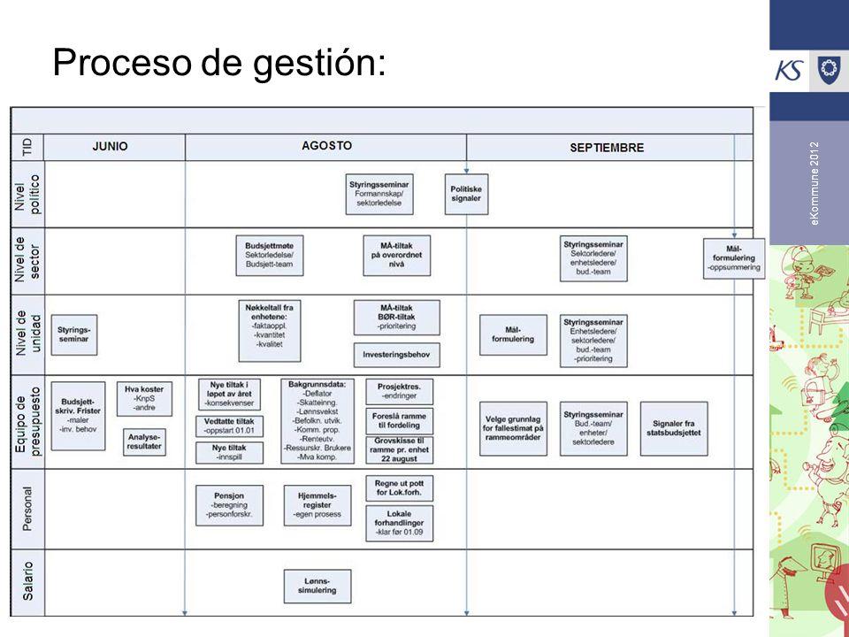 eKommune 2012 Proceso de gestión: