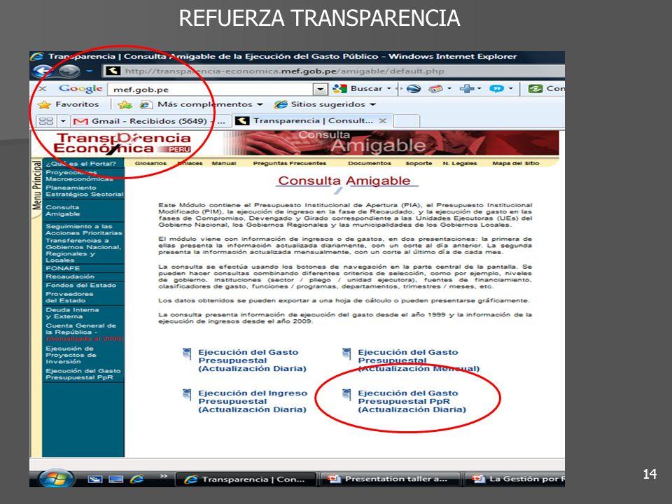 14 REFUERZA TRANSPARENCIA