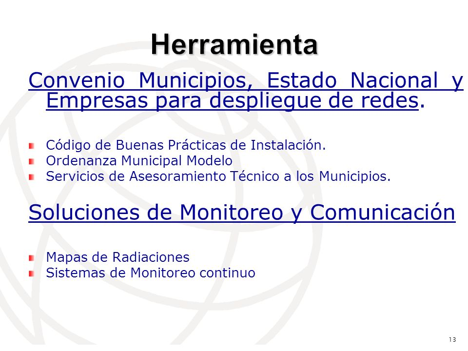 Convenio Municipios, Estado Nacional y Empresas para despliegue de redes.