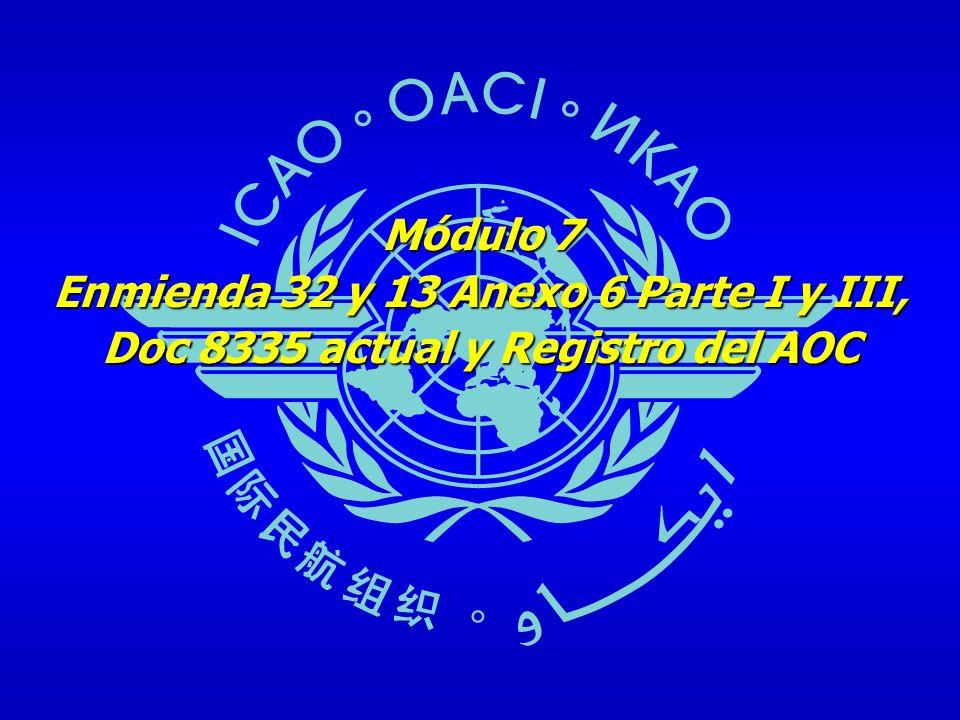 12 Agenda Antecedentes históricos y situación actual – OACI Antecedentes históricos y situación actual – OACI Presentación del problema con respecto al AOC y OpSpecs Presentación del problema con respecto al AOC y OpSpecs Soluciones y objetivos Soluciones y objetivos Propuestas de la secretaría de la OACI Propuestas de la secretaría de la OACI Registro internacional del AOC Registro internacional del AOC
