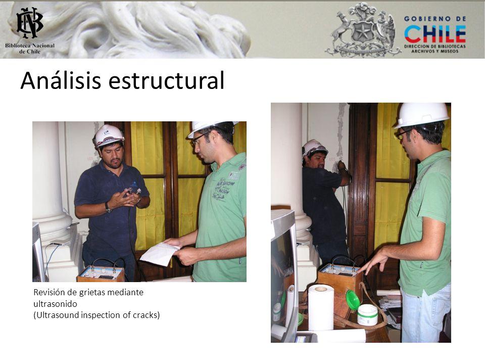 Análisis estructural Revisión de grietas mediante ultrasonido (Ultrasound inspection of cracks) Retiro de escombros