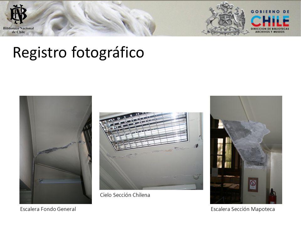 Registro fotográfico Escalera Fondo GeneralEscalera Sección Mapoteca Cielo Sección Chilena